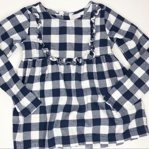 Hanna Andersson Cotton Flannel Plaid Top Size 8